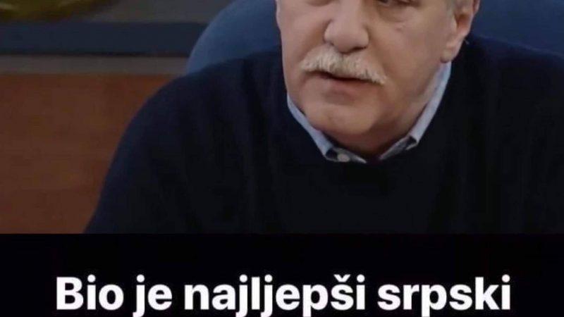 Pogledajte kako izgleda legendarni glumac Aljoša Vučković