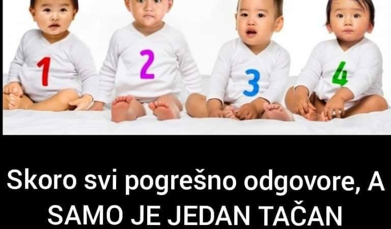 Možete li pogoditi koja beba je djevojčica?-Pogledajte šta to govori o vama
