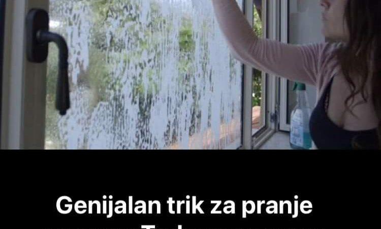 Probajte ovaj genijalni trik za pranje prozora-oduševit ćete se