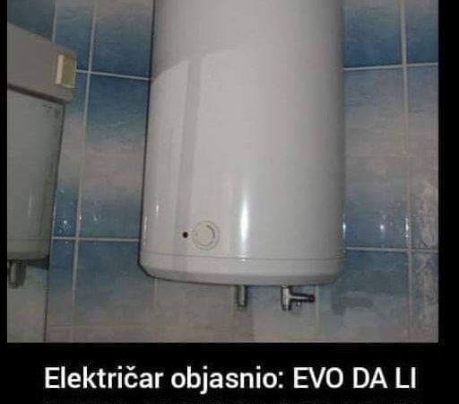 Da li gasiti bojler prije kupanja ili ne, pogledajte šta kaže ovaj električar